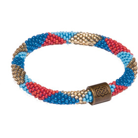 Sherpa Mayalu Dhaka Roll On Armband, rupa blue